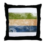 Sierra Leone Flag Throw Pillow