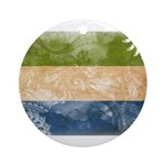 Sierra Leone Flag Ornament (Round)