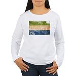 Sierra Leone Flag Women's Long Sleeve T-Shirt