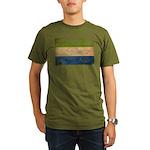 Sierra Leone Flag Organic Men's T-Shirt (dark)