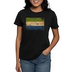Sierra Leone Flag Women's Dark T-Shirt