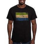 Sierra Leone Flag Men's Fitted T-Shirt (dark)