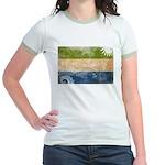 Sierra Leone Flag Jr. Ringer T-Shirt