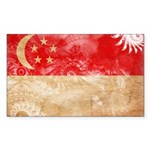 Singapore Flag Sticker (Rectangle 10 pk)