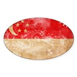 Singapore Flag Sticker (Oval 10 pk)