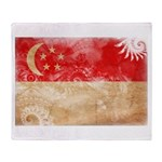 Singapore Flag Throw Blanket