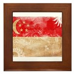 Singapore Flag Framed Tile