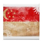 Singapore Flag Tile Coaster