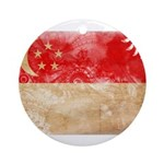 Singapore Flag Ornament (Round)