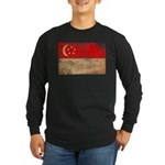 Singapore Flag Long Sleeve Dark T-Shirt