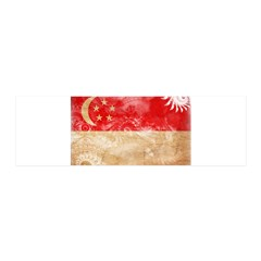 Singapore Flag 21x7 Wall Peel