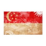 Singapore Flag 38.5 x 24.5 Wall Peel