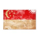 Singapore Flag 22x14 Wall Peel