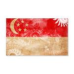 Singapore Flag 22x14 Wall Peel