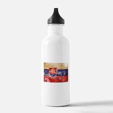 Slovakia Flag Water Bottle