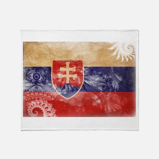 Slovakia Flag Throw Blanket