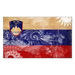 Slovenia Flag Sticker (Rectangle 50 pk)