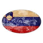 Slovenia Flag Sticker (Oval 10 pk)