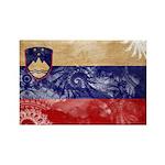 Slovenia Flag Rectangle Magnet (100 pack)
