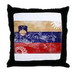 Slovenia Flag Throw Pillow