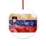 Slovenia Flag Ornament (Round)