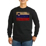 Slovenia Flag Long Sleeve Dark T-Shirt