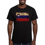 Slovenia Flag Men's Fitted T-Shirt (dark)