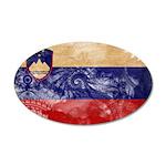 Slovenia Flag 38.5 x 24.5 Oval Wall Peel