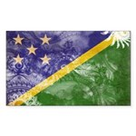 Solomon Islands Flag Sticker (Rectangle 10 pk)