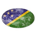 Solomon Islands Flag Sticker (Oval 10 pk)
