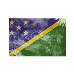 Solomon Islands Flag Rectangle Magnet (100 pack)