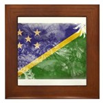 Solomon Islands Flag Framed Tile