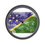 Solomon Islands Flag Wall Clock