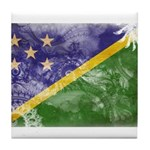 Solomon Islands Flag Tile Coaster