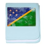 Solomon Islands Flag baby blanket