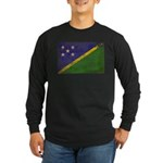 Solomon Islands Flag Long Sleeve Dark T-Shirt