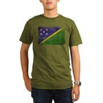 Solomon Islands Flag Organic Men's T-Shirt (dark)