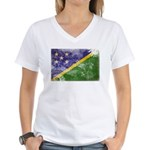 Solomon Islands Flag Women's V-Neck T-Shirt