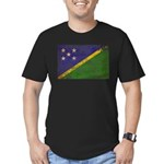 Solomon Islands Flag Men's Fitted T-Shirt (dark)