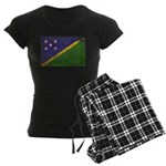 Solomon Islands Flag Women's Dark Pajamas