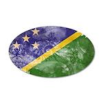Solomon Islands Flag 38.5 x 24.5 Oval Wall Peel