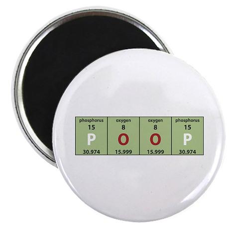 """Chemistry Poop 2.25"""" Magnet (10 pack)"""