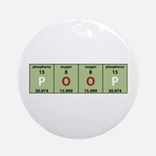 Chemistry Poop Ornament (Round)