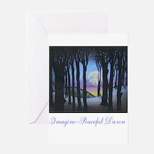 Imagine Peaceful Dawn Greeting Card