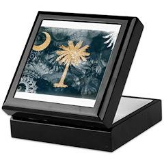 South Carolina Flag Keepsake Box