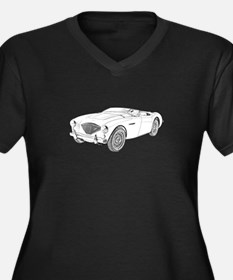 1953 Austin-Healey 100 Women's Plus Size V-Neck Da