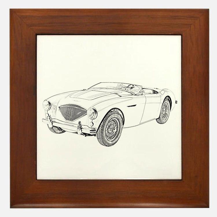 1953 Austin-Healey 100 Framed Tile
