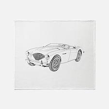 1953 Austin-Healey 100 Throw Blanket