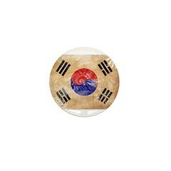 South Korea Flag Mini Button (100 pack)