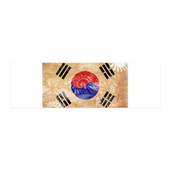 South Korea Flag 42x14 Wall Peel